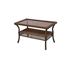 Spring Haven Brown 66-20305 All-Weather Wicker and Rust Resistant Powder Coated Steel Frame Outdoor Patio Coffee Table