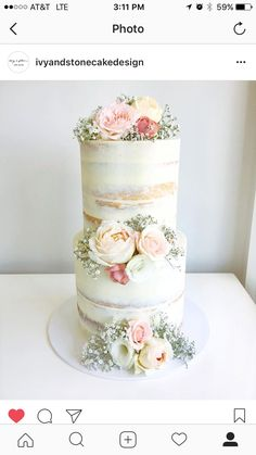 ***lightly frosted/semi-naked cake