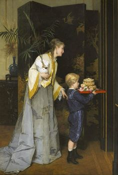 View La fête de papa by Frans Verhas on artnet. Browse upcoming and past auction lots by Frans Verhas. Alfred Stevens, Amber Tree, Mother Pictures, Academic Art, Plate Art, Vintage Artwork, Classical Art, Art For Art Sake, Mother And Child