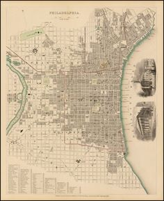 Map of Philadelphia (1840) #map #philadelphia