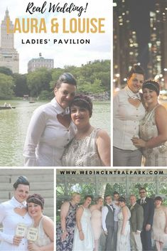Laura and Louise's Wedding in the Ladies' Pavilion, Central Park, New York (same sex wedding)