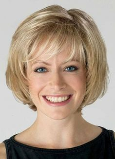 "Medium Length 8"" Synthetic Lace Front Chic Bob Wig"