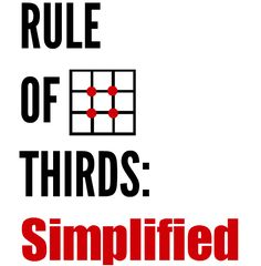 Simplified explanation of The Rule of Thirds for beginner photographers.