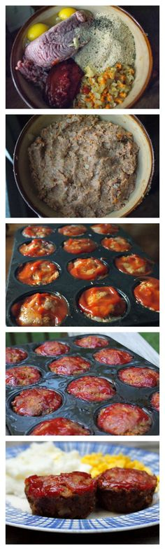 Meatloaf Muffins are perfectly moist little meatloaves packed with fresh chopped veggies that are baked in a muffin tin in just 25 minutes.  #weeknightdinner #backtoschool