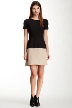 Hannah Colorblock Short Sleeve Dress