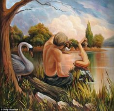 oleg shuplyak illusion sigmund freud. Read Full article: http://webneel.com/webneel/blog/10-amazing-hand-painting-illusions-ray-massey-and-annie-ralli | more http://webneel.com/paintings . Follow us www.pinterest.com/webneel