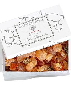 """""""When you open a box of Côté Bastide's Pamplemousse potpourri, the contents look like a mix of amber and sea glass. It's like bringing a box of gemstones to the party. And the soft grapefruit scent isn't overpowering."""" —Joel Woodard, designer and owner, J Design Antiques Garden, Oldwick, New Jersey"""
