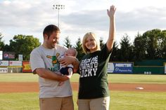 This little guy was born on Opening Day 2011, he will get one free ticket per season for the rest of his life!