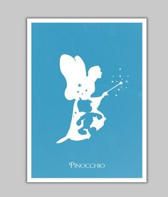 Alternative Pinocchio minimalist poster. #art #print #poster #disney #pinocchio…