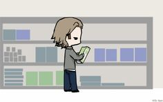 Day 8: Shopping (Sabriel version)[Gif] by ~Nile-kun on deviantART