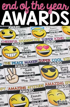 I love these editable end of the year awards for students. So easy to edit and print. Plus, the kids will love the emoji theme awards!