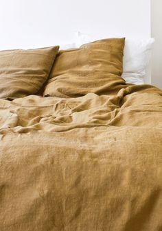 Soft Linen Pillow Case, Mustard - contemporary - bed pillows - Bodie and Fou Linen Duvet, Linen Pillows, Bed Linens, Floral Pillows, Home Decor Bedroom, Bedroom Furniture, Bedroom Ideas, Nature Bedroom, Bedroom Flooring