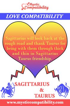 Sagittarius will look back at the rough road and thank Taurus for being with them through thick and thin in Sagittarius Taurus friendship. #Sagittarius #Taurus #Friendship #Sagittarius_Friendship #Taurus_Friendship #Love_Compability #Zodiac_Signs