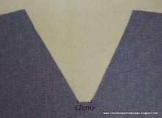 escote-V-uniformes Sewing Paterns, Dress Sewing Patterns, Sewing Patterns Free, Sewing Tutorials, Sewing Hacks, Free Pattern, Sewing Projects, Sewing Clothes, Diy Clothes