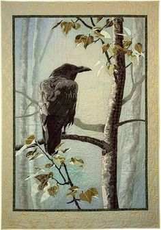 I am in love with this woman's work - Karin Franzen Crow Art, Raven Art, Bird Art, Gouache, Baby Crows, Horse Silhouette, Collage Techniques, Jackdaw, Crows Ravens