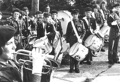 The Marching Pathfinders outside Scout HQ in July 1978, six months after being formed on 19 February.