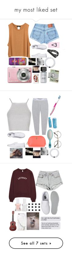"""my most liked set"" by dxwnforawhile ❤ liked on Polyvore featuring Bobbi Brown Cosmetics, Vans, Lynn Ban, Lokai, Calvin Klein Jeans, Topshop, Oral-B, The Idle Man, The Wet Brush and Tory Burch"
