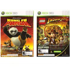 Lego Indiana Jones & Kung Fu Panda (Xbox 360, 2008) Great Condition #videogames #xbox360 #lego #indianajones #kungfupanda