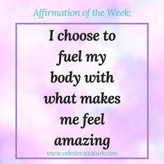 Affirmation of the week. Make sure to screenshot for your wallpaper as a daily reminder for yourself . This is one of my personal favorites as it allows me to tap back into the energy of serving my body for all she does for me while listening to my body a