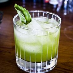 Cocktails, 365 Flashback - Gin-Basil Smash by Mark A. Vierthaler on DrinkWire