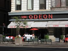 The Odeon in Tribeca; the cosmo was introduced here