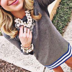 Daphne pearl necklace and matching bracelet #stelladotstyle #stelladot #statementkette #perlenkette