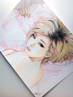Son Ga In -- Brown Eyed Girls fan art painting by *antuyetlai on deviantART