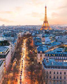Paris sunset colors by Saul Aguilar.