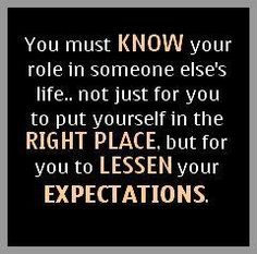 Expectations know your role know your place
