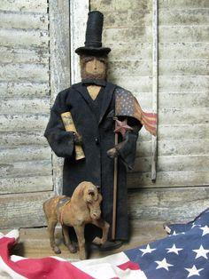 Olde Abe Lincoln..  Available Sunday Jan 20th , 2013..(11 am est.)  Direct From Folk Artist Sue Corlett    http://1897houseprimitives.blogspot.com/