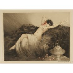 "Louis Icart - ""Smoke"" (Actually have this etching above my bar!)"