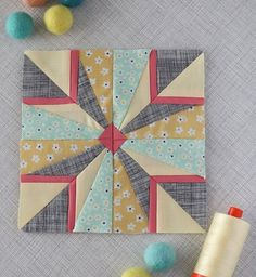 Quilt Block The Splendid Lovely colors, but the needs a lot to be desired when it comes to matching points and corners. Sew A Four Patch Pinwheel Quilt – Quilting Cubby How To Get Crisp Binding Corners And Join Binding Ends To Lay Flat – Quilting Cubb Quilting Projects, Quilting Designs, Sewing Projects, Paper Pieced Quilt Patterns, Patchwork Quilting, Mini Quilts, Tutorial Patchwork, Woodworking Patterns, Barn Quilts