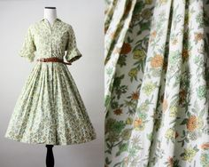 1950's floral day dress.