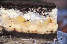 Ciasto Oreo z bananami i budyniem | Czekoladowy zawrót głowy Oreo, Food Cakes, No Bake Desserts, Cake Recipes, Sweet Tooth, Cheesecake, Deserts, Tasty, Sweets