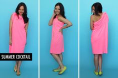 Neon casual cocktail dress | 5 Items, 10 Ways