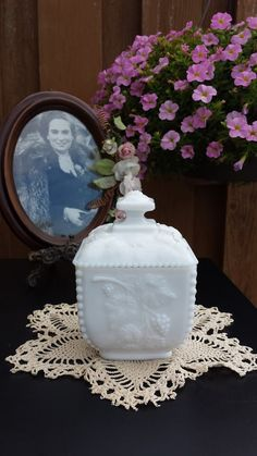 Vintage Westmoreland Milk Glass Candy by RosesVintageVixen on Etsy