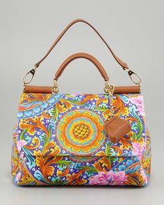 Miss Sicily Vibrant Canvas Print Bag  $1,995.00