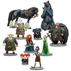 Brave Figure Deluxe Play Set | Girls | Disney Store. I bought this set to use on the cake.