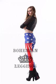 Flag of America Old Glory Print Leggings