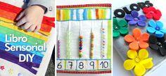 Los libros sensoriales son un juguete educativo perfecto para que los bebés experimenten con las texturas y aprendan muchos conceptos como los colores, los números y otras muchas cosas mientras juegan.