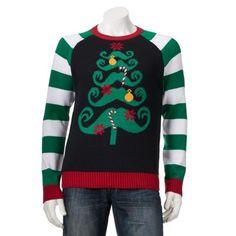 Mustache Tree Christmas Sweater - Men $34.99