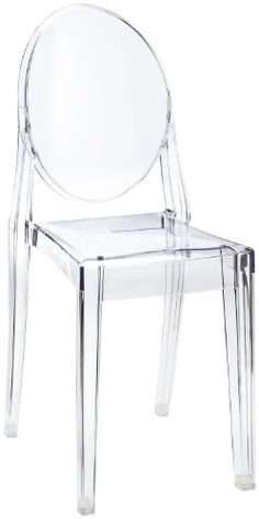 nice Kartell Victoria Ghost Stool designed by Philippe Starck, Crystal Clear