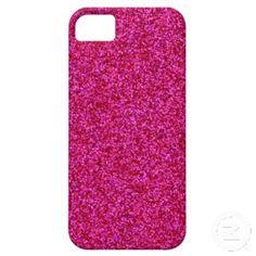 Hot Pink Glitter iPhone 5 Case