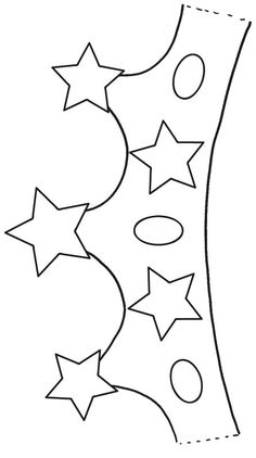 This Pin was discovered by kub Crown Crafts, Diy Crown, Diy For Kids, Crafts For Kids, Arts And Crafts, Crown For Kids, Classroom Birthday, Felt Crown, Crown Template