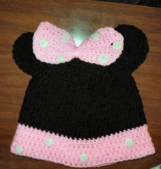 Girls Minnie Mouse hat by Linda Pierce 9-23-2012