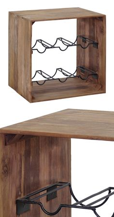 Give your favorite Chiantis and Cabernets a cozy home with this Andersen Wine Rack. Beautifully crafted from recycled teak, this wine holder boasts charming, rustic finish. Metal hardware makes the fin...  Find the Andersen Wine Rack, as seen in the Styles We LOVE: Rustic Collection at http://dotandbo.com/collections/styles-we-love-rustic?utm_source=pinterest&utm_medium=organic&db_sku=116617
