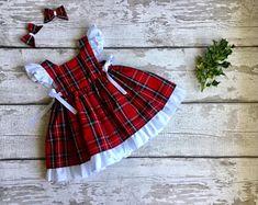 Tartan Christmas, Christmas Baby, Christmas Sweaters, Toddler Dress, Baby Dress, Baby Girl Christmas Dresses, First Christmas Photos, Stretchy Headbands, Dress First