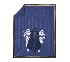 Star Wars™ Darth Vader™ and Stormtrooper™ Quilted Bedding | Pottery Barn Kids, the picture does not do it justice!!!  @Shannon Medrano