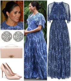 """d27c1f338a Gown: Carolina Herrera; Shoes: Gianvito Rossi; Clutch: Dior; Earrings:  Cartier💙 . Do you like her outfit?…"""""""