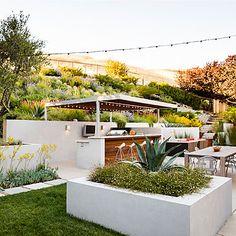 Gorgeous hillside garden